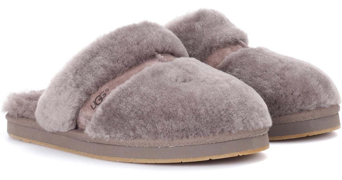 1f34458de61 Ugg Gray Dalla Fur Slippers