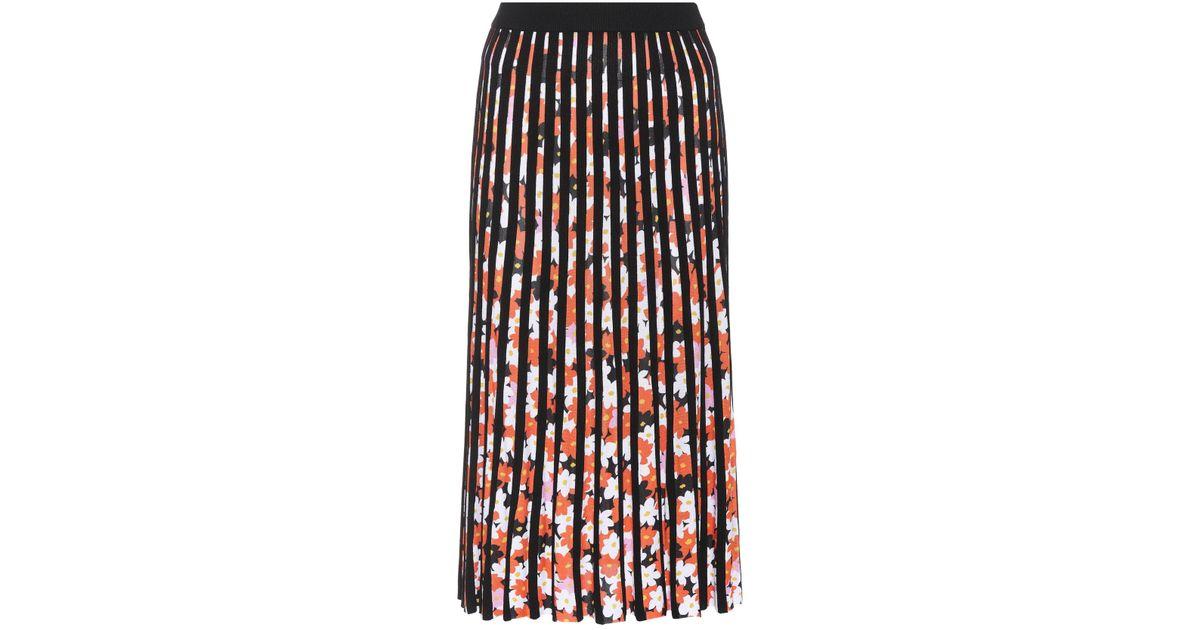 46f665308 KENZO Jackie Flowers Pleated Midi Skirt - Lyst