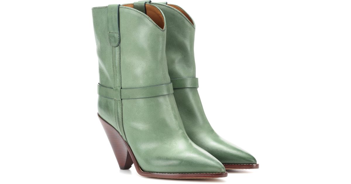 Isabel Marant Exclusive to mytheresa.com –Lenskee leather boots cheap sale visit new shop for cheap price SCPTVZip