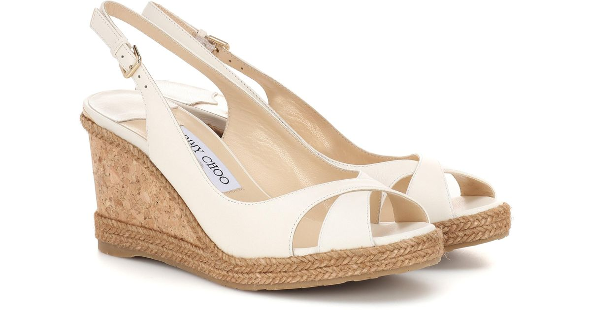 d42227762db10 Lyst - Jimmy Choo Amely 80 Platform Wedge Sandals in White