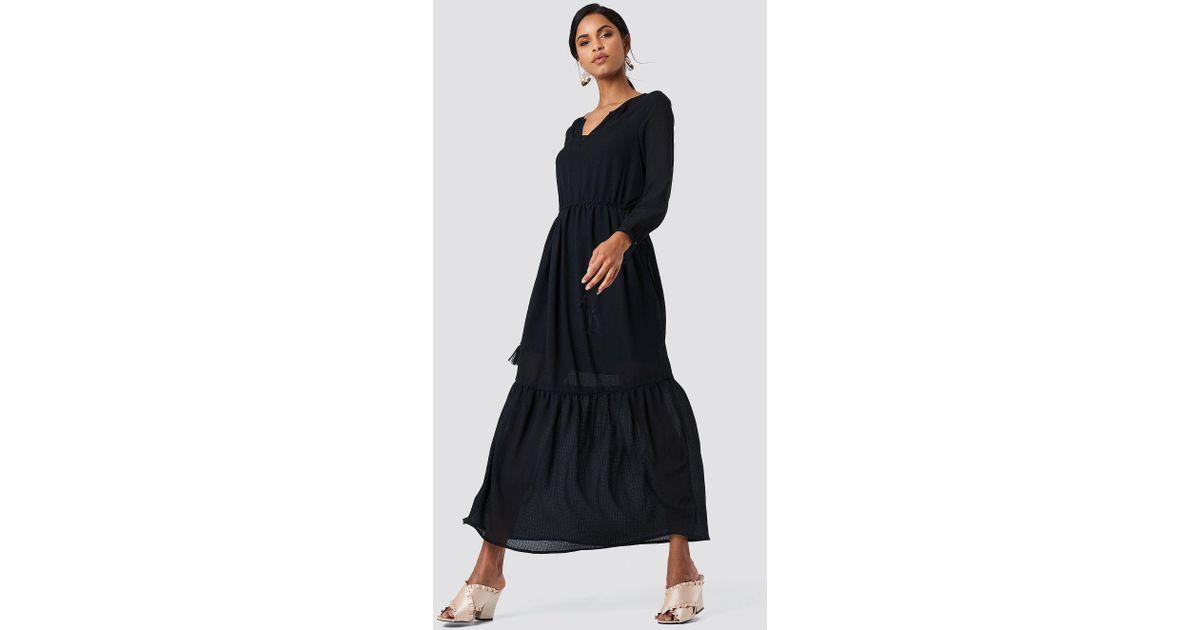 a1349cec6 Saint Tropez Check Long Dress Black