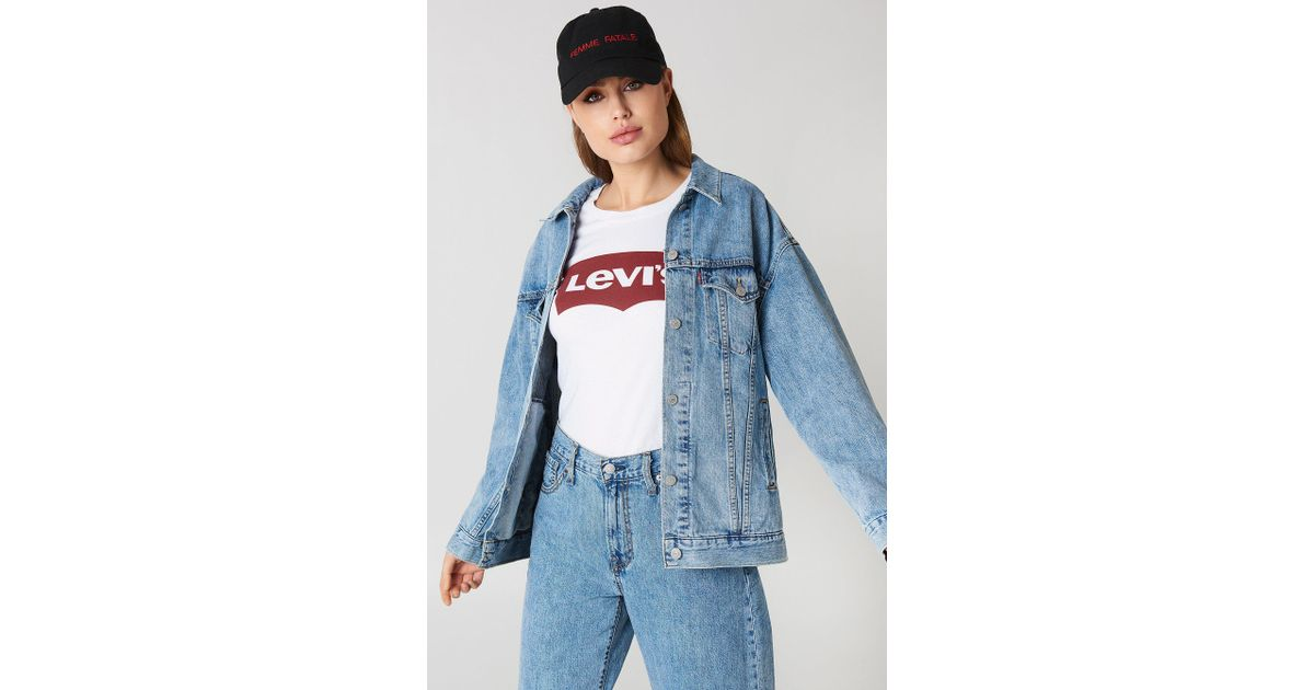 amazon shades of outlet store Levi's Blue Baggy Trucker Jacket Med Indigo