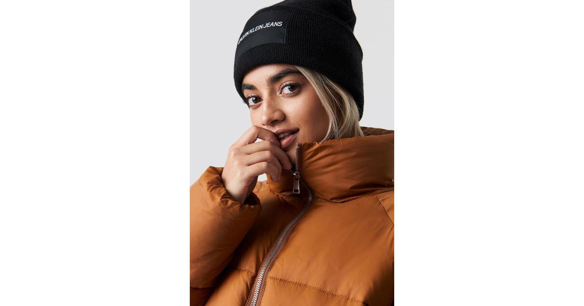 Lyst - Calvin Klein J Beanie W Black in Black 288d804057a