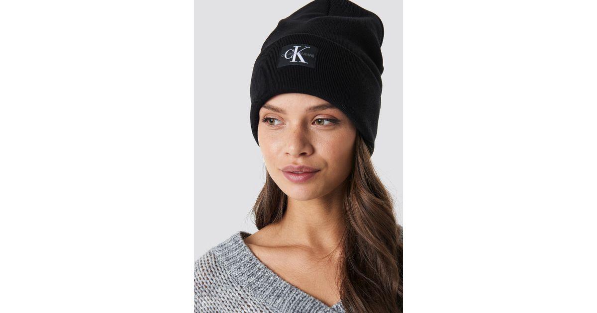 07c856ea4 Calvin Klein Black J Monogram Beanie Hat