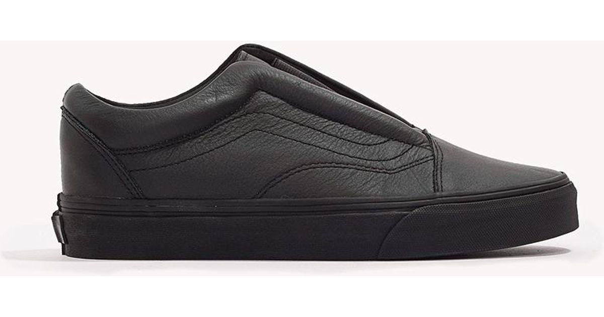 982f13e98b Lyst - Vans Old Skool Laceless in Black