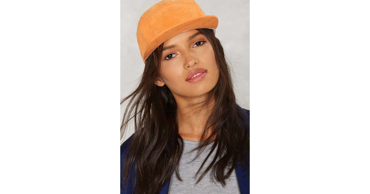 Nasty gal cap chat snapback hat orange in orange lyst - Chat orange ...