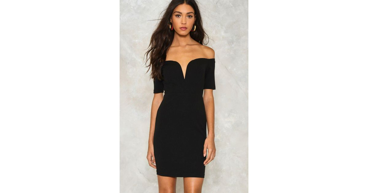 b8b75a8f93084 Lyst - Nasty Gal One Way Or Another Off-the-shoulder Dress in Black