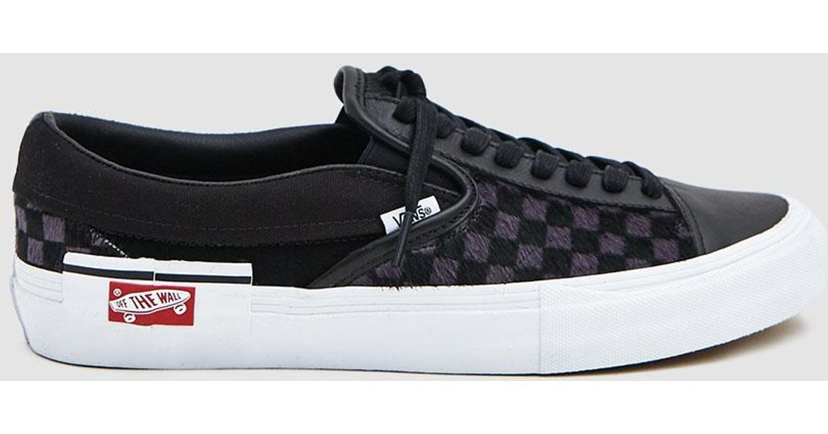 fa9af792cb8c Lyst - Vans Slip-on Cap Lx Pony Sneaker in Black for Men