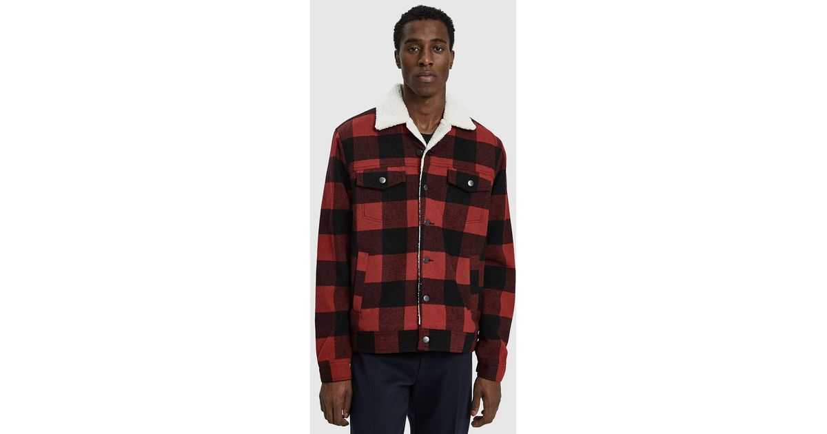 7440e8732b Insight Red Lumber City Flannel Jacket for men