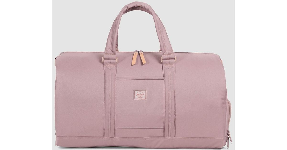 Lyst Herschel Supply Co Novel Foundation Weekend Bag In Ash Rose Pink