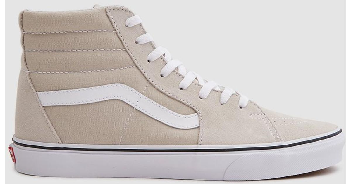 193550a1a2a0bc Lyst - Vans Sk8-hi Sneaker In Silver Lining in Metallic for Men