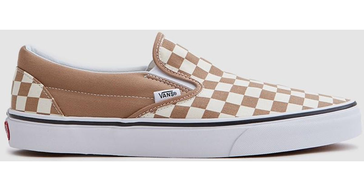 54486677502 Lyst - Vans Classic Slip-on Checkerboard Sneaker In Tiger s Eye for Men