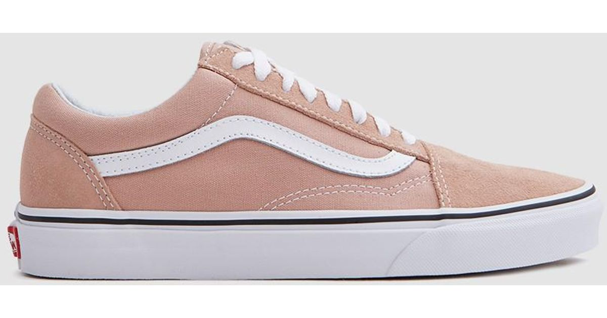 6f4429431890e7 Lyst - Vans Old Skool In Mahogany Rose true White in Pink