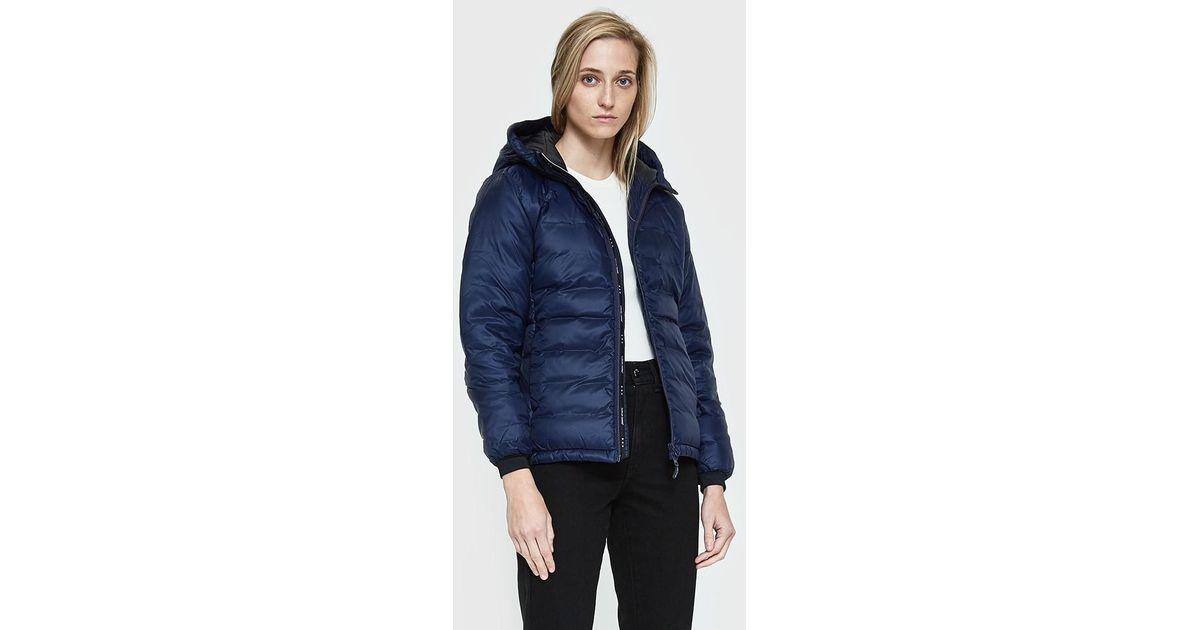 canada goose camp hooded jacket ink blue
