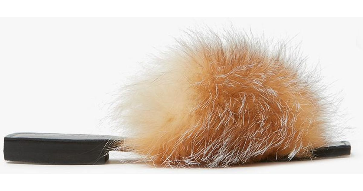 e077c7a5fab39 Lyst - Parme Marin Furry Baby Slides In Taupe in Brown