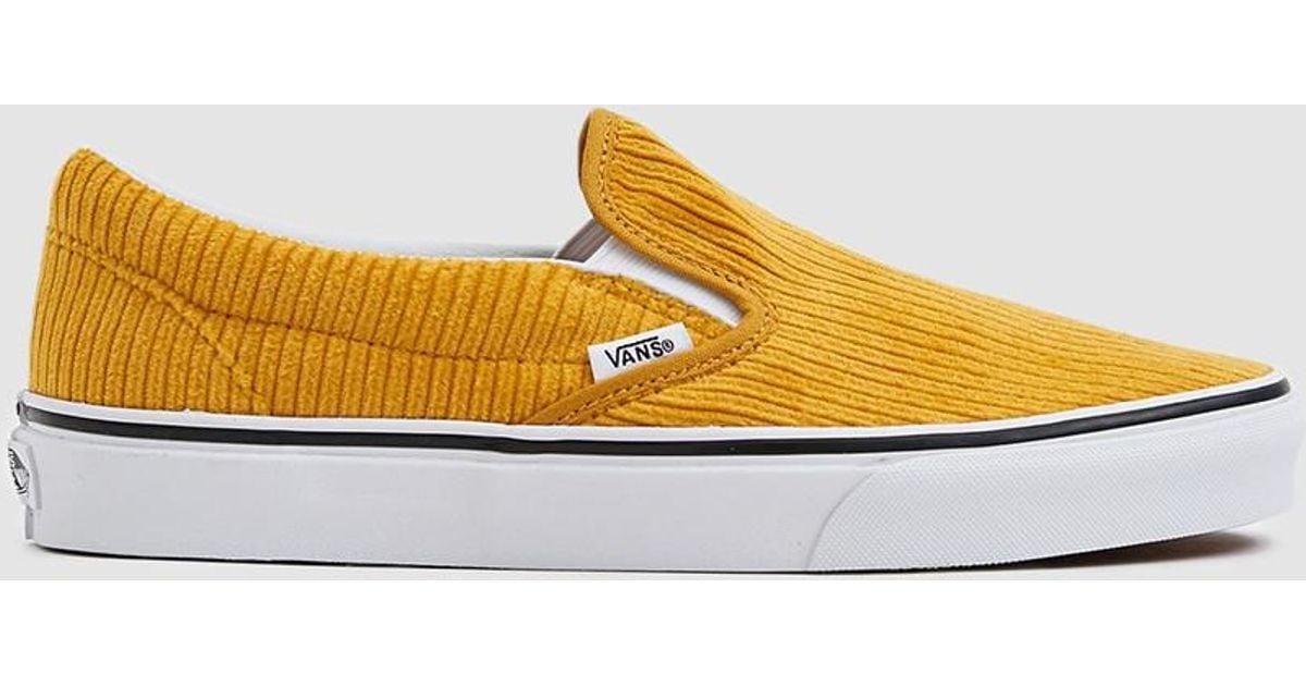 9180778bdfa99c Vans Corduroy Slip-on Design Assembly Sneaker in Yellow - Lyst