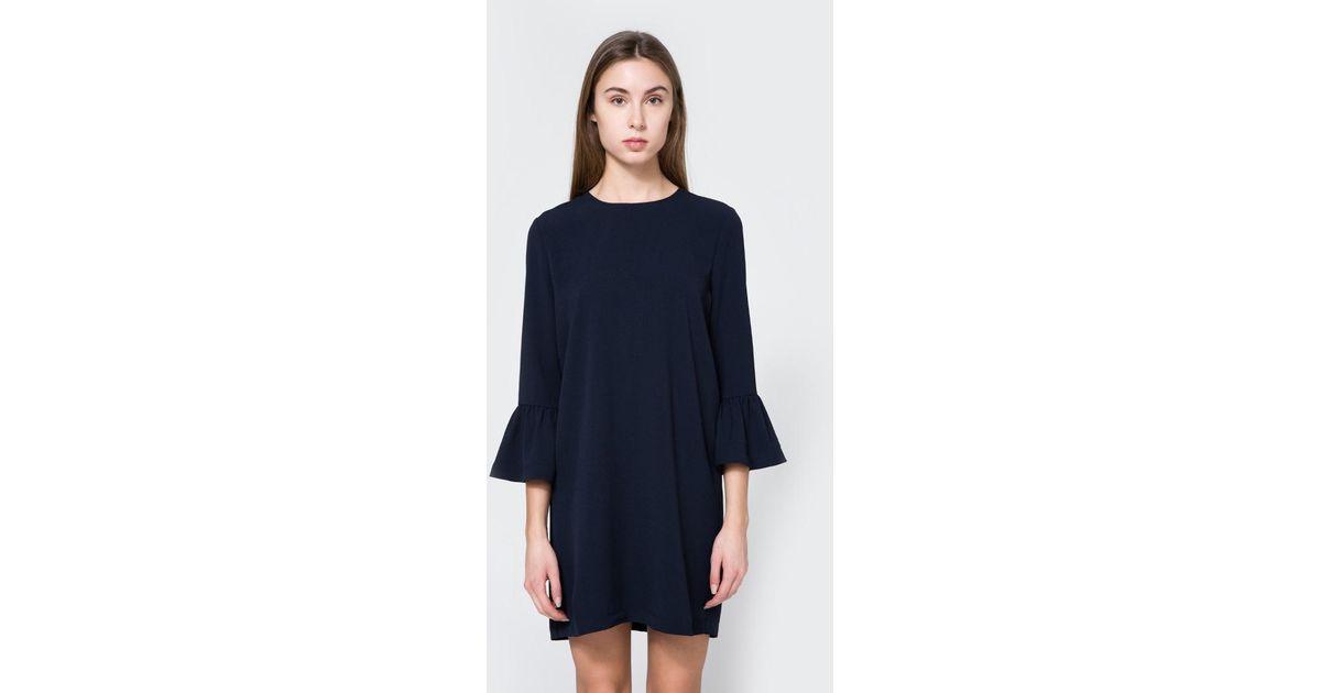 cbe000c433aa3 Ganni Clark Dress In Total Eclipse in Blue - Lyst