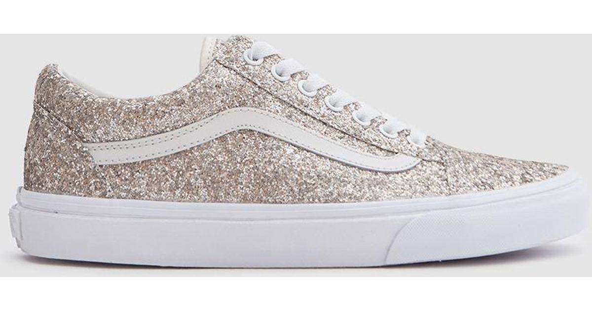 Lyst - Vans Old Skool In Multi Glitter true White in White e74bd4aeb