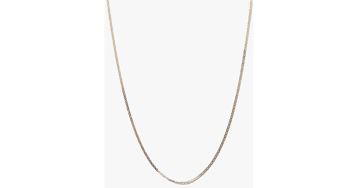 gold solid latest chain filled gg deals groupon yellow mariner necklace