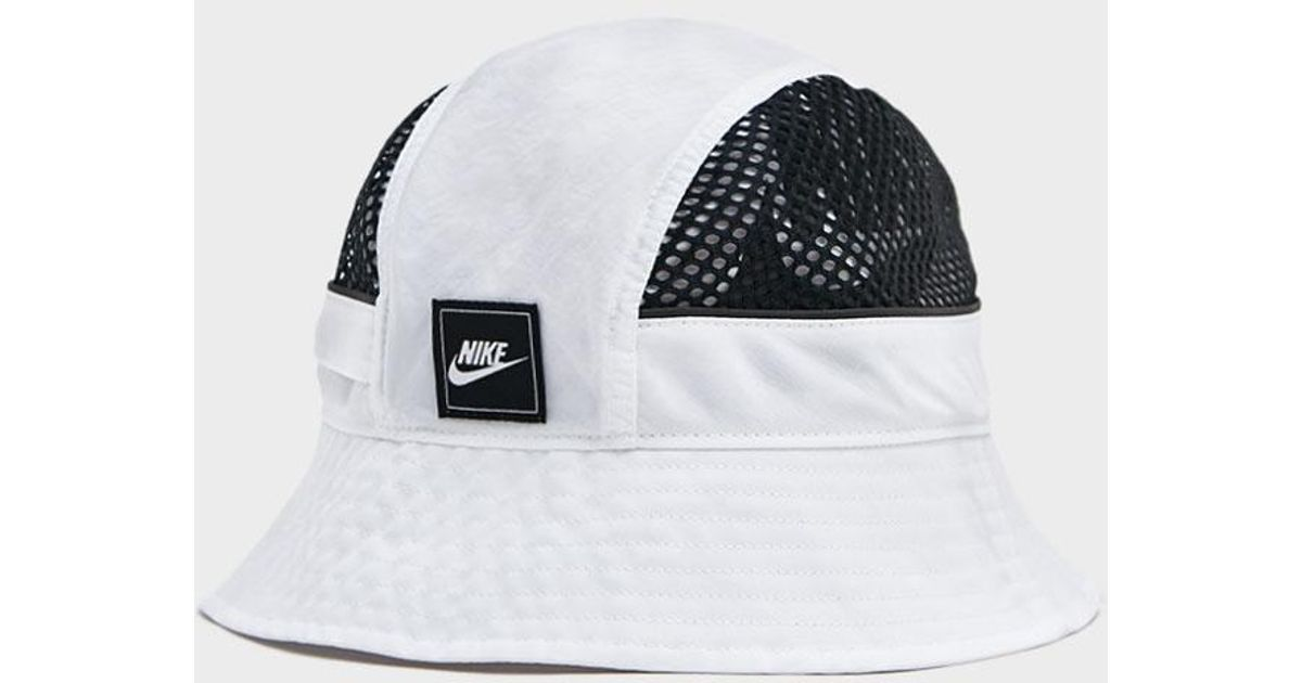 8bf095bb8ae3a Nike Mesh Bucket Hat in White for Men - Lyst