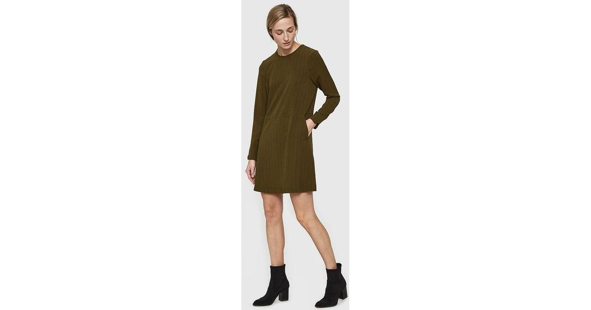 ee574f1b Ganni Clark Mini Dress in Green - Lyst