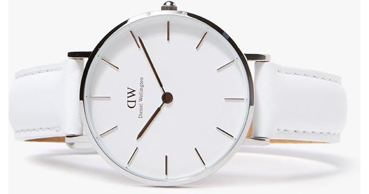052d4f997c67 Lyst - Daniel Wellington Classic Petite Bondi In 32mm Silver white in  Metallic