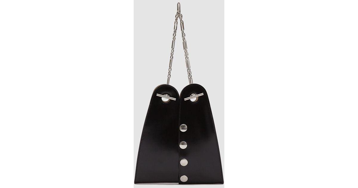 e71c7ba5a55 Lemaire Black Mini Double Folded Bag