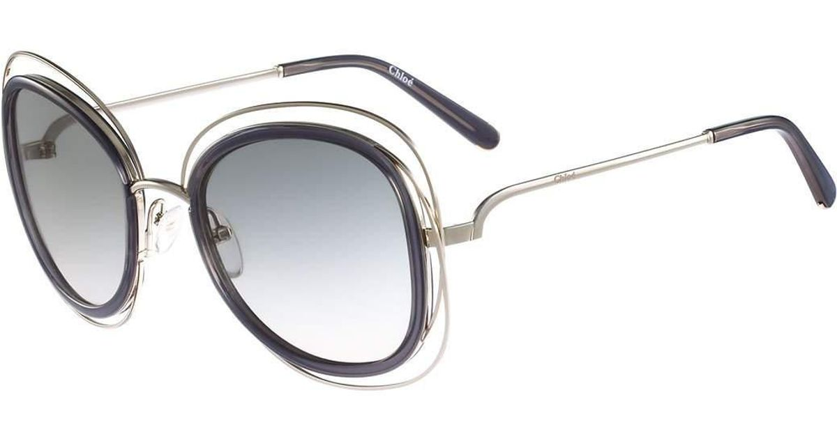 aa50f6532f1 Lyst - Chloé Carlina Trimmed Butterfly Sunglasses
