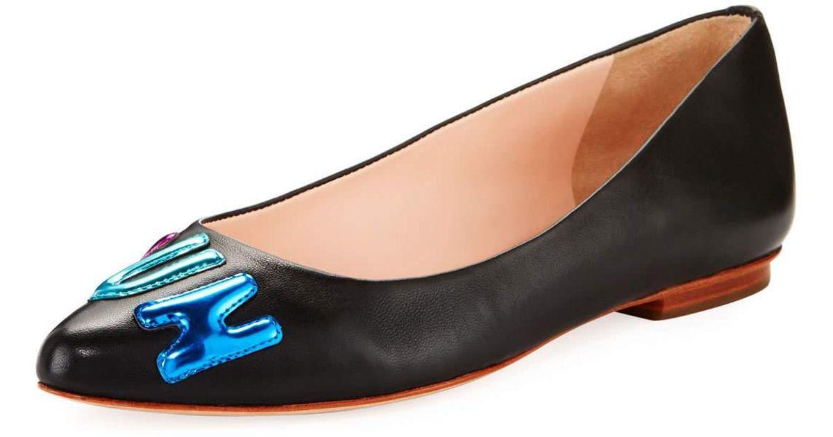 2fdfd3df1 Lyst - Kate Spade Elliot Fun Ballerina Flat in Black