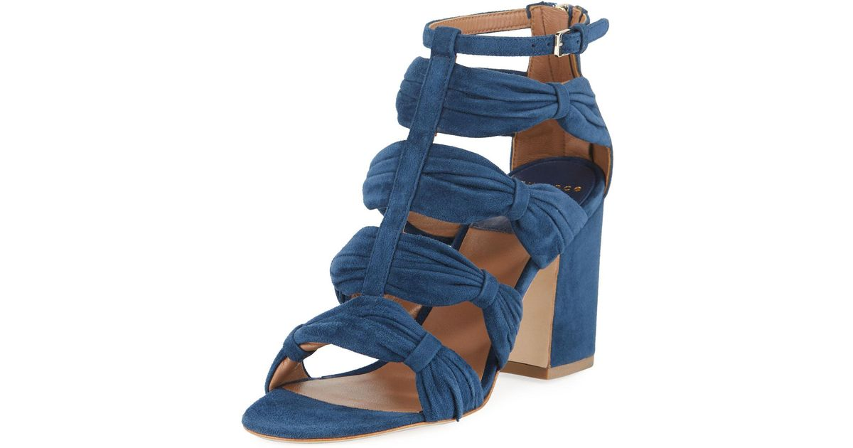 Laurence Dacade Rocky Ruched Suede T-Strap Sandal XSBprJ