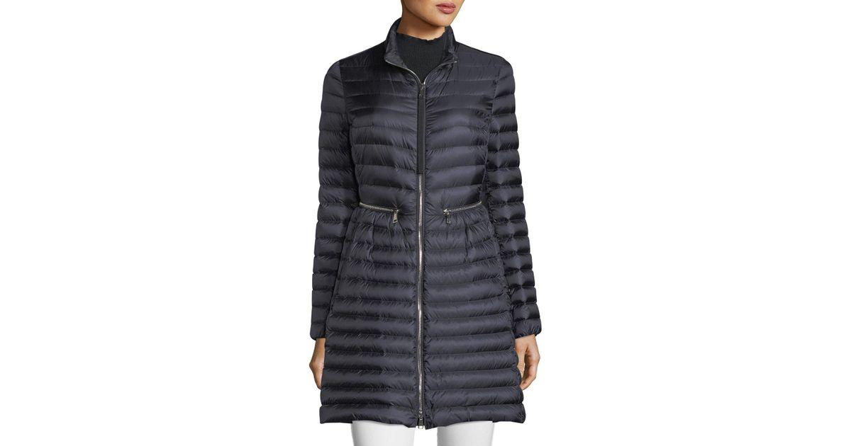 afffb0c1d Moncler Blue Agatelon Long Puffer Jacket