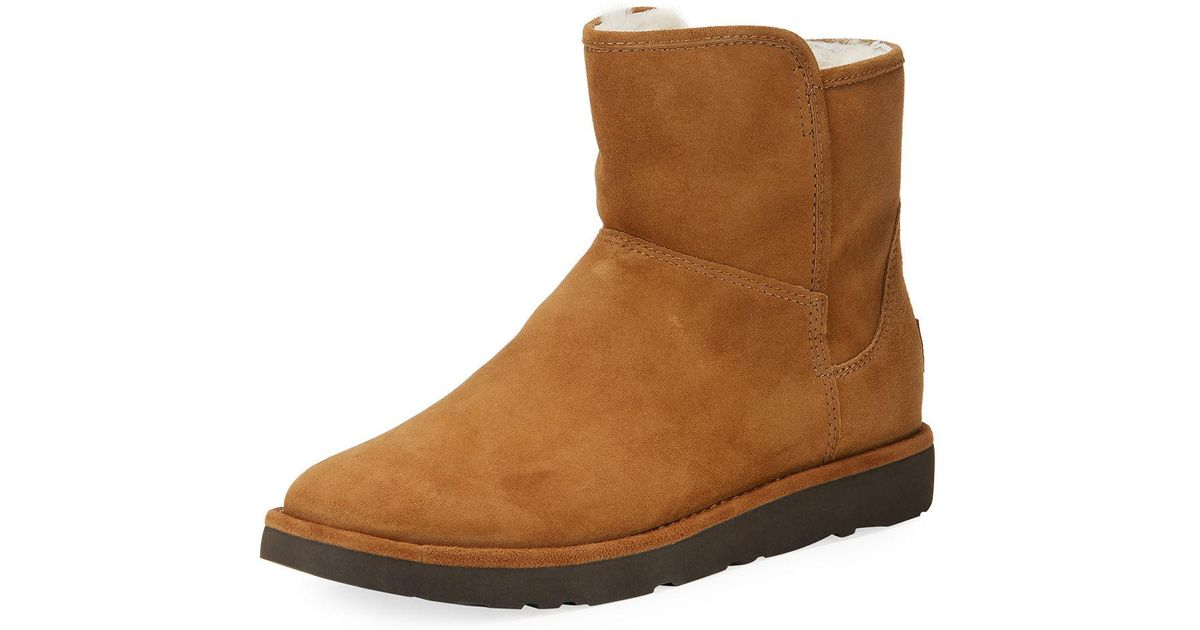 226d08d2814 Ugg Brown Abree Mini Classic Luxe Boot