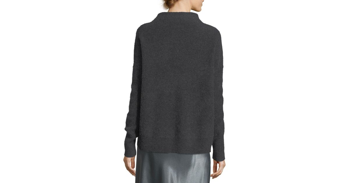 1bb79877d4adc8 Vince Funnel-neck Cashmere Pullover Sweater in Black - Lyst
