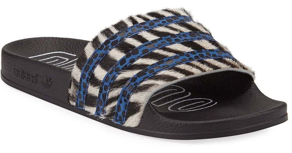 Sandals Striped Women's Black Slide Adidas Adilette TKcl1JF