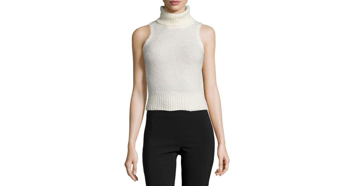 6dc5da48ad992c Lyst - Rachel Zoe Elodie Sleeveless Turtleneck Sweater in White