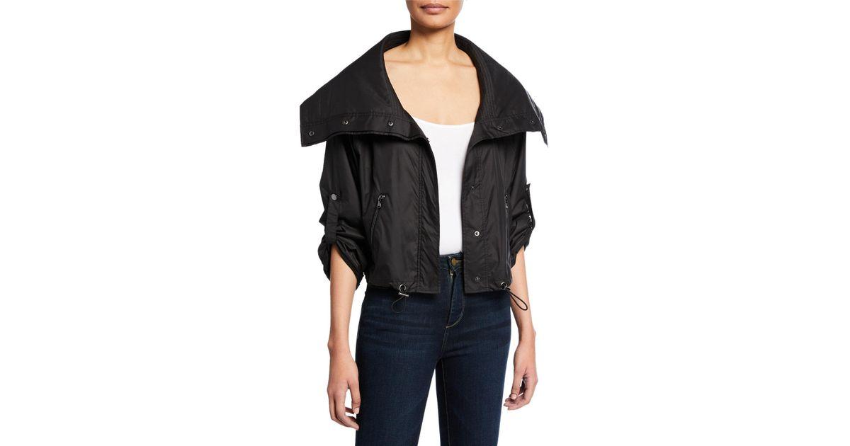 Lyst - Anatomie Casey Metallic Cropped Jacket in Black 5946d2799