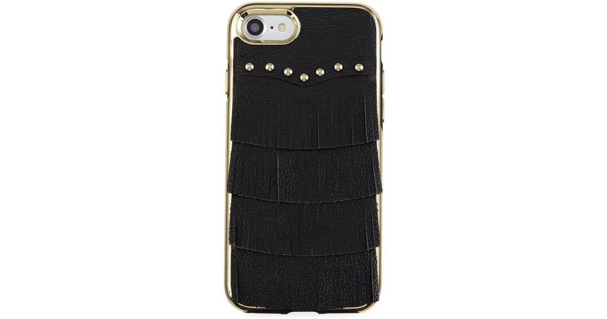 Rebecca Minkoff Fringe Leather Studded iPhone 7 Case NaRx3