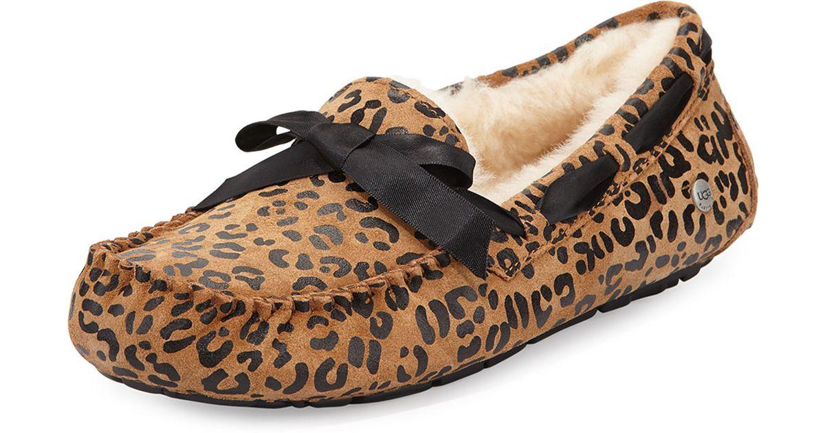 f66bf88276e UGG - Multicolor Dakota Leopard Bow-Tie Slippers - Lyst
