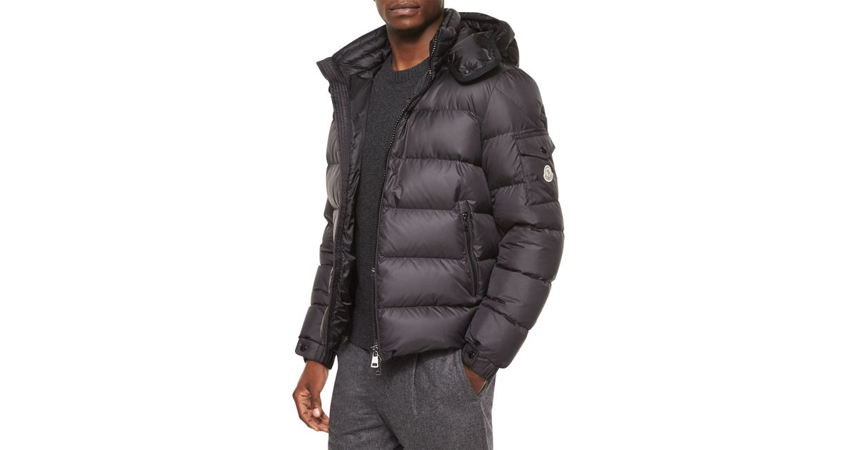 adfcea828 Moncler Black Himalaya Hooded Down Jacket for men