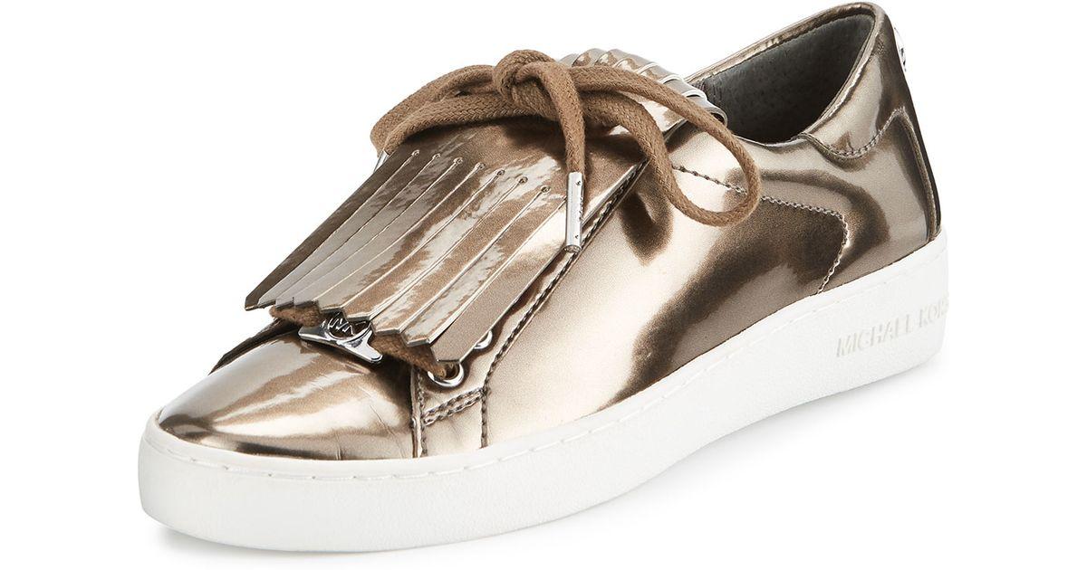 a38a61862460 Lyst - MICHAEL Michael Kors Keaton Kiltie Metallic Sneaker in Metallic
