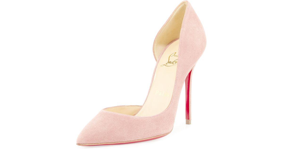 d13de3a41fd9 Lyst - Christian Louboutin Iriza Suede Pumps in Pink