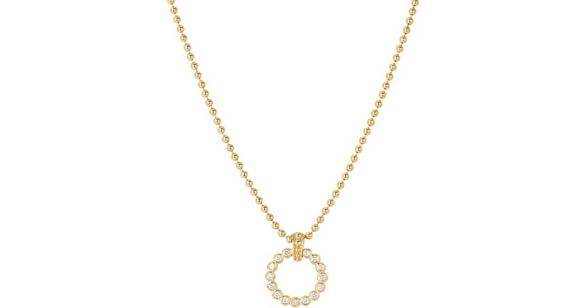 Small Diamond Circle Pendant Necklace