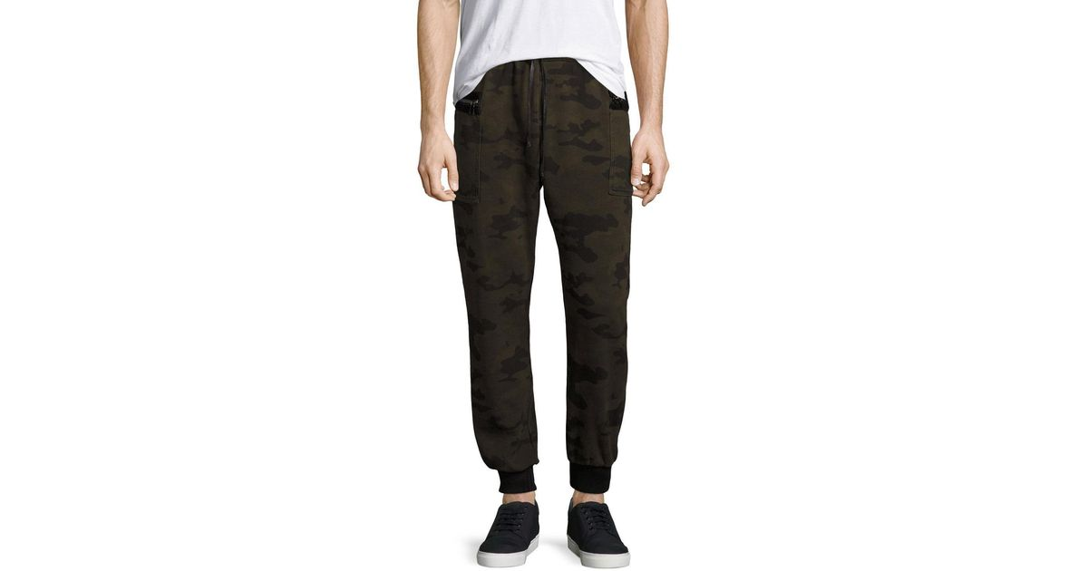 Hudson Jeans Cotton Holden Camo-print Jogger Pants In