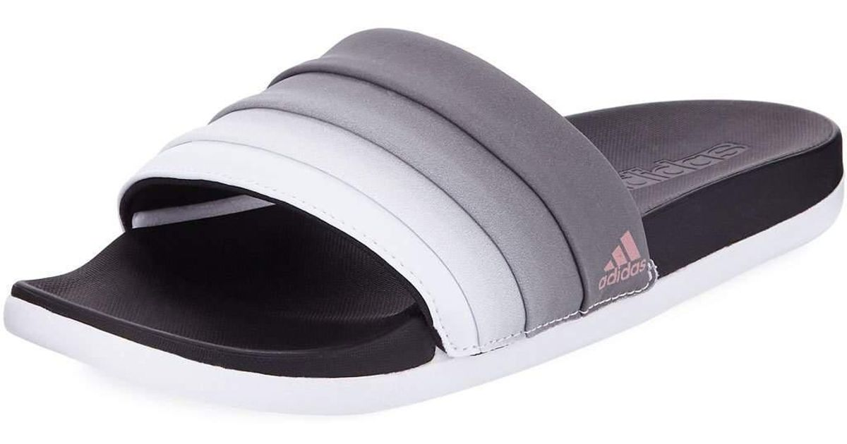 150a6cfa508d Lyst - adidas Adilette Ombre Comfort Slide Sandals in White