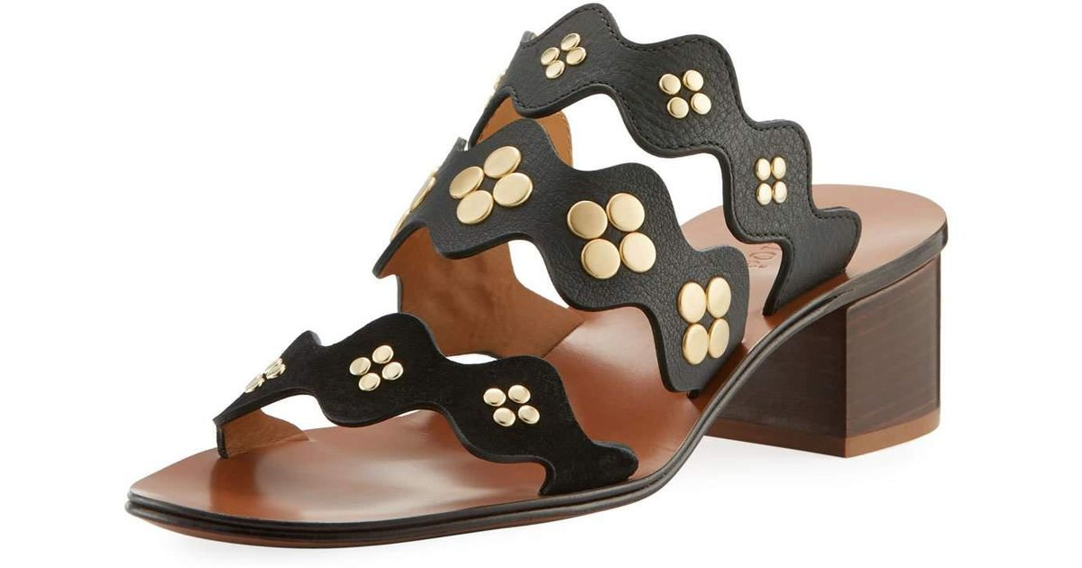 Lauren studded sandals - Black Chlo VSCM4OCz