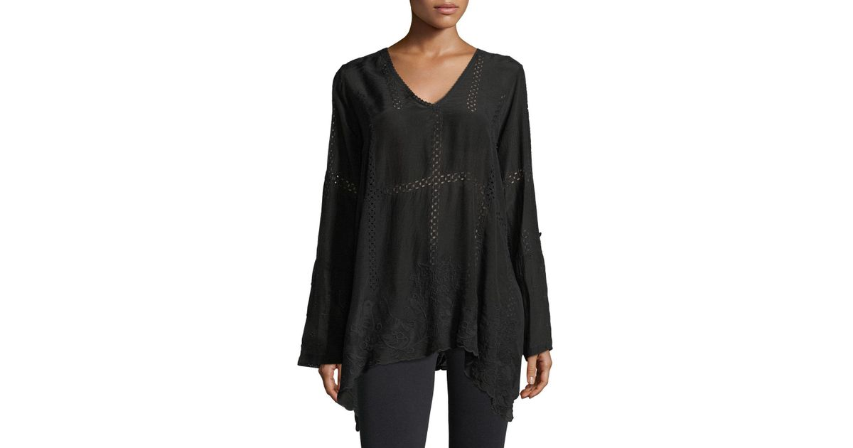 f3114c8027a37a Lyst - Johnny Was Cage Flare Long-sleeve Tunic in Black