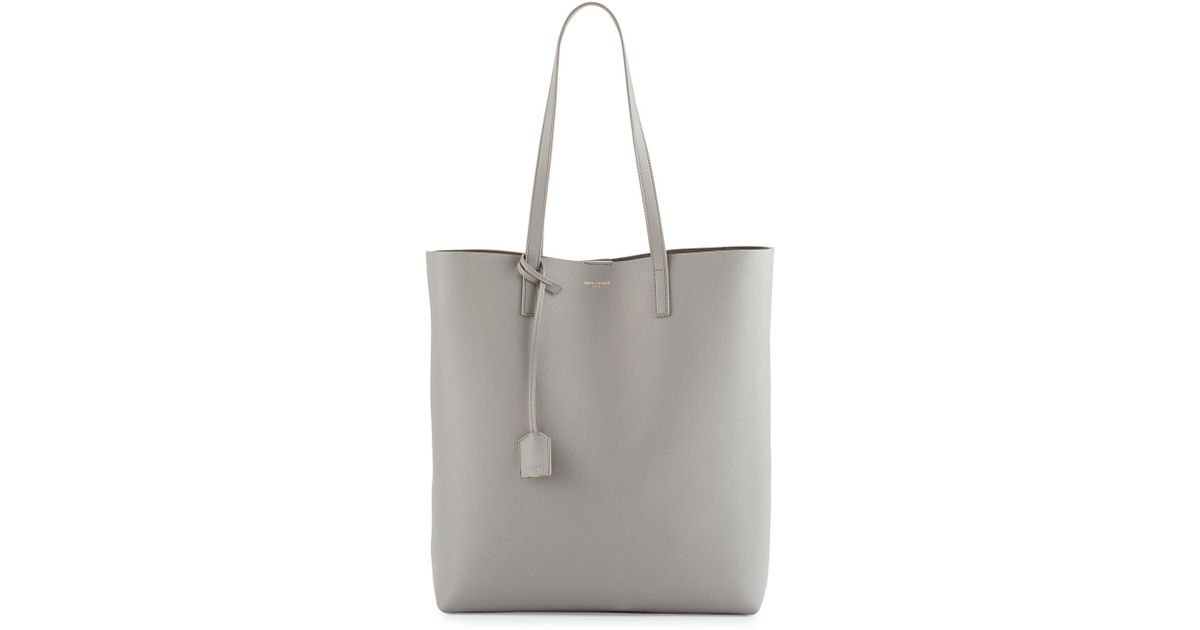c391f1a6d4 Lyst - Saint Laurent Medium North-south Shopping Tote Bag in Gray