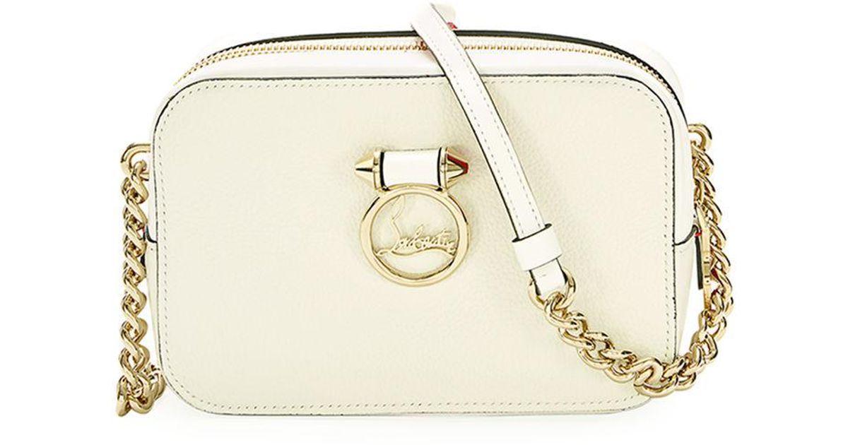 83e4d7bb130 Christian Louboutin White Ruby Lou Mini Calf Crossbody Bag