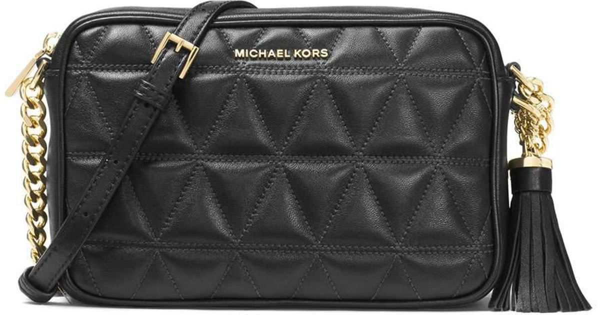 MICHAEL Michael Kors Black Ginny Medium Quilted Camera Bag