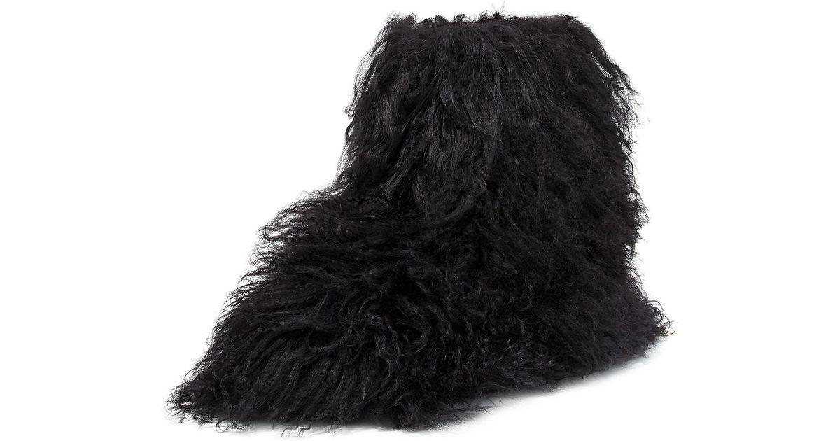 09562781478 Ugg Black Fluff Momma Mongolian Fur Boot